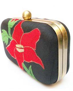 flower clutch bag