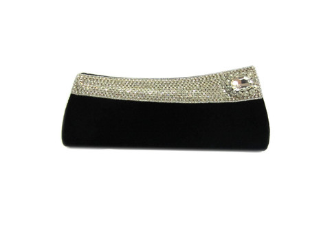 Black stone clutch for women