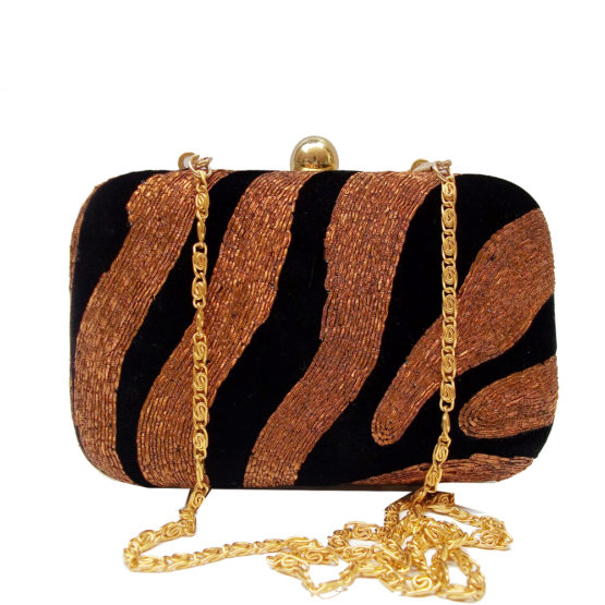 AHS crafts dawka zebra Clutch For women